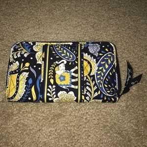 "Vera Bradley Double Accordion Wallet ""Ellie Blue"""